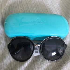 Kate Spade Black with Gold Trim Sunglasses-NWT
